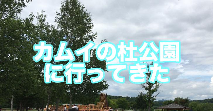 カムイの杜公園に行ってきました!